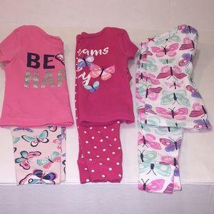 Preworn girls Carter pajamas
